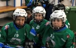 Najmlajši hokejisti obiskali Miklavža na Bledu