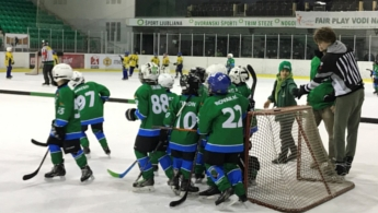 Zmajčki, Hokej šola Turnir v Ljubljani, 18.3.2018, ekipi U-8